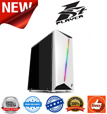 1St Player Rainbow R3 Mini White Tower Gaming Case w/Tempered Glass Side Panel