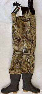 Cabelas Neoprene Thinsulate Chest Waders Boot Foot Camouflage Size 8 New!