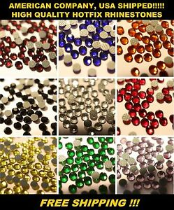 SS10 (3mm) AAA+ Quality HotFix Rhinestones, Korean Stye Many Colors 10-25 Gross