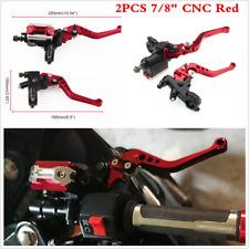 CNC Universal Motorcycle 7/8'' 22mm Brake Master Cylinder Clutch Reservoir Lever