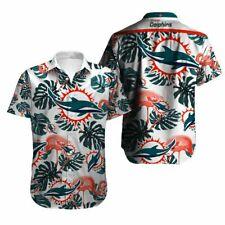 Miami Dolphins Hawaiian Shirts Men's Summer Holiday Beach Short Sleeve T-Shirt