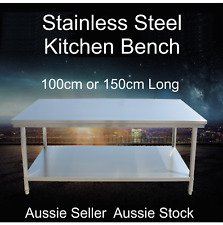 Stainless Steel Kitchen Work Bench 1000 1500mm Prep Catering Table Top VIC Picku