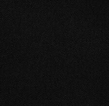 """Outdoor Upholstery Waterproof Black Soft Solid Canvas Fabric 60"""" Wide BTY"""