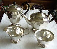 Vintage Plata Plateado Epns 4 piezas Juego de Té Café/Viners de Sheffield