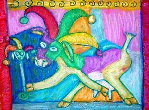 Anudder Jester Goat 5x7 Art Print Signed by Artist KSams Farm Countryside