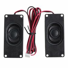 2PCS 3070 4 Ohm 3W Advertising LCD TV Loudspeaker Rectangle Speakers Black