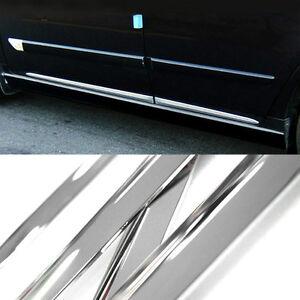 Chrome Side Skirt Door Line Sill Garnish Molding Trim Cover 4Pcs for FORD Car