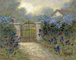 Iris Gate by Jon McNaughton Landscape Floral Open Edition Paper Print