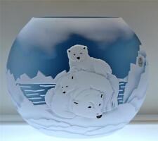 Fenton KELSEY MURPHY Sand Carved Polar Bear KOOL 8801HG LE #d 5/150 *FREEusaSHIP