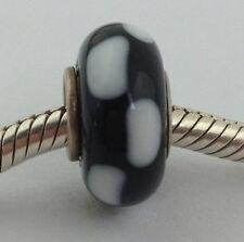 Authentic Chamilia Murano Glass Retired Geometry Bead Charm, No Logo, New