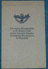 Les nouveaux glasgemälde à St Moritz à Halle et les ecclésiastiques vitrail 1940