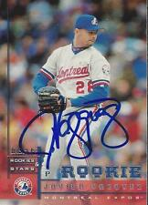 Javier Vazquez Montreal Expos 1998 Leaf Rookies & Stars Signed Rookie Card