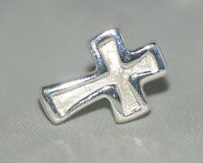 Sterling Silver Stud Earring Cross / Crucifix 925