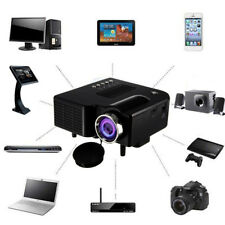 HD 1080P 400Lux Mini Projector Smart LED Home Cinema With Airplay WiFi HDMI VGA