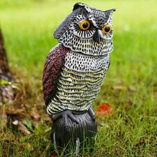 Owl Pest Deterrent Fake Birds Hunting Decoy Scarer Repeller Garden Decor