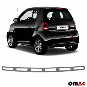 Fits Smart ForTwo 2008-2015 Dark Chrome Rear Bumper Guard Trunk Sill Protector