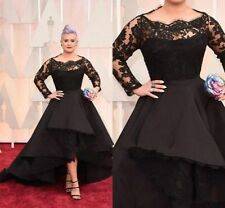 Custom Plus Size NEW Black Cocktail Prom Party Bridal Gown Wedding Dress