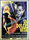 La Dolce Vita 1960 Italian Film Drama Comedy Vintage Poster Print Retro Movie