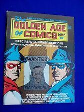 The Golden Age of Comics 2: Ron Goulart US  fanzine 1982.Wally Wood. Will Eisner