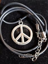silver peace necklace