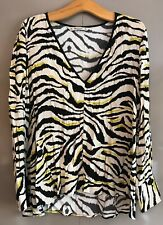 Zara Lovely Zebra Print Top - Size Medium
