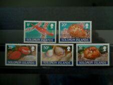SOLOMON ISLANDS 1990 COWRIE SHELLS 5v MH MINT SG670/674