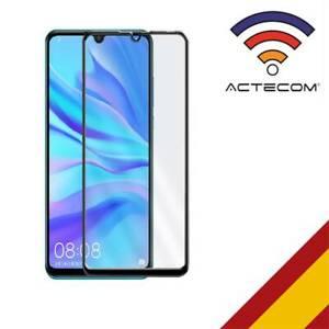 ACTECOM® PROTECTOR PANTALLA PARA Huawei P30 Lite 9D NEGRO CRISTAL TEMPLADO