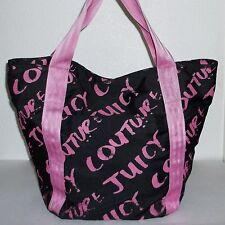 Juicy Couture Large Black & Pink Tote Bag Big Handbag Purse