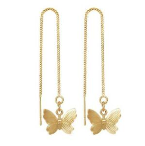 Womens Long Tassel Chain Earrings Chic Butterfly Drop Dangle Ear Line Jewellery