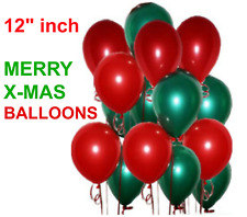 100 Pieces Pack Merry Christmas Latex Balloons 12 Inch Fast & 12""