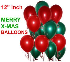 100 Piezas Paquete Feliz Navidad Globos Látex 30.5cm Rápido & 30.5cm
