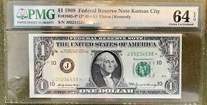 FR. 1906-J* 1969-C $1 *STAR* FRN KANSAS CITY, MO PMG CHOICE UNCIRCULATED-64EPQ