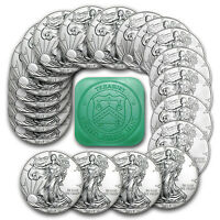 2017 1 oz Silver American Eagle BU (Lot, Roll, Tube of 20)