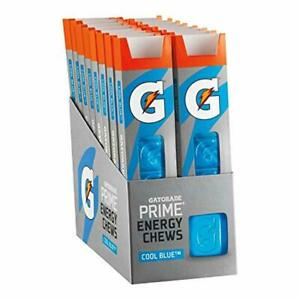 Gatorade Prime Energy Chews Endurance & Body Energy Cool Blue 6 Count Pack of 16