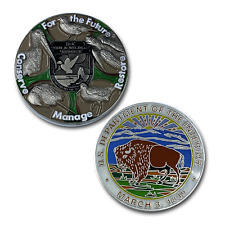 Fish and Wildlife Service FWL & FWS challenge coins DD-007