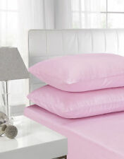 LUXURY PILLOWCASE PAIR POLYCOTTON HOUSEWIFE PILLOW PACK BEDROOM 2 PILLOW COVER