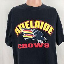 Adelaide Crows Mens Logo T-Shirt L Blue Australian Football Club AFL Cotton