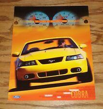 Original 2003 Ford Mustang SVT Cobra Fact Sales Sheet Brochure 03
