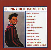 JOHNNY TILLOTSON - BEST CD ~ EARTH ANGEL~POETRY MOTION 60's GREATEST HITS *NEW*