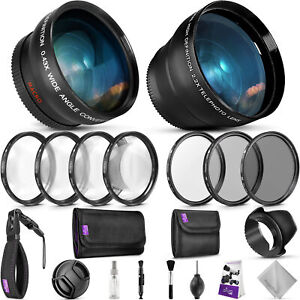 52mm Essential Accessory Kit for Nikon DSLR Bundle with Vivitar Lenses