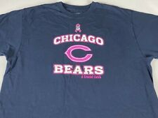 Chicago Bears T-Shirt Adult Large Crucial Catch Breast Cancer NFL Football Tee