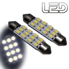 2 Ampoules navette c10w 41 mm 41mm 12 LED  Blanc Habitacle Plafonnier coffre
