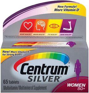 Centrum Silver Multivitamins for Women 50+ Multivitamin/Multimineral 65 tablets