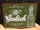 Grolsch Holland 1615 Beer Sign Tin Vintage Garage Bar Decor Old Rustic