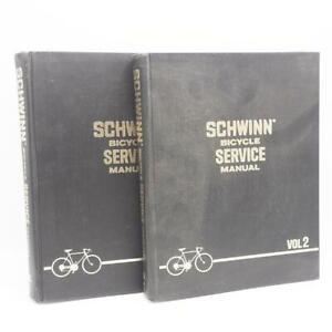 Schwinn Bicycles Service Manuals Volumes 1 and 2 Hardbound 1972 Vtg