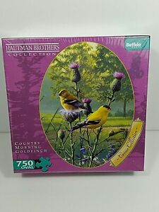 "Buffalo Games Hautman Brothers ""Country Morning Goldfinch"" 750 Piece Puzzle New"