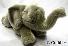 Elephant Ganz Plush Toy Stuffed Animal Realistic Wild Africa Laying Grey Bnwt L