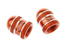 MOWA Schrader American Road Mountain BMX Bicycle Bike Alloy Valve Caps Orange