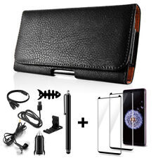 FOR Samsung Galaxy S9+ Plus Horizontal Leather Pouch Holster Case + Accessories