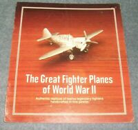 The Danbury Mint's Pewter Great Fighter Planes of World War II Brochure